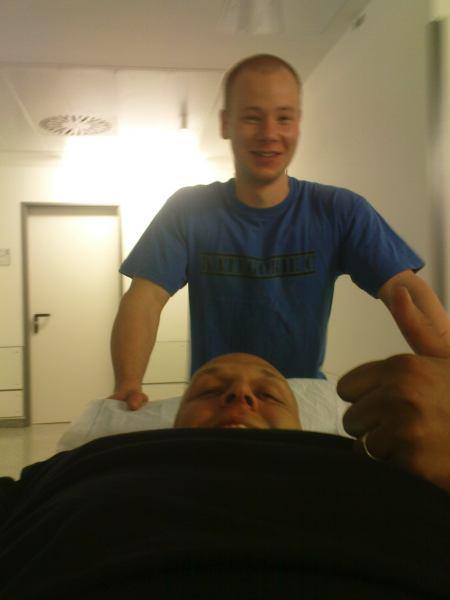 Andreas lehman (Blau t-shirt) und Florian Behrens