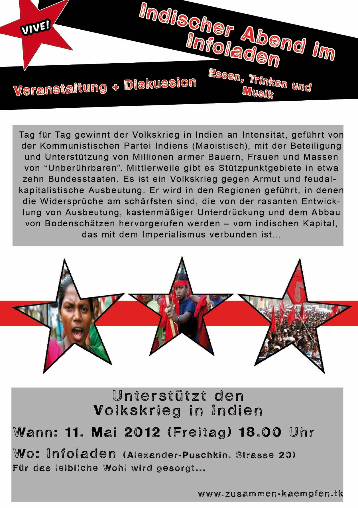 Freitag 11 mai 2012 indischer abend im infoladen for Indischer laden berlin