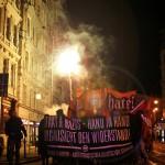 11.1.2013 Rund 300 Leute beteiligten sich an der kämpferischen Vorabenddemo durch die Magdeburger Innenstadt